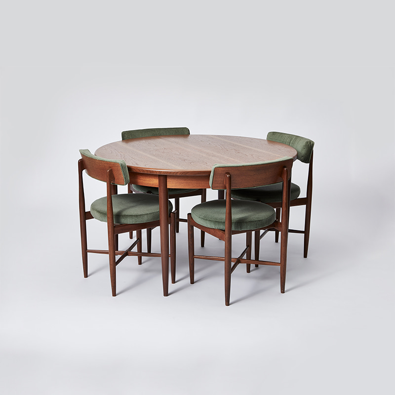 G PLAN FRESCO DINING TABLE AND CHAIRS