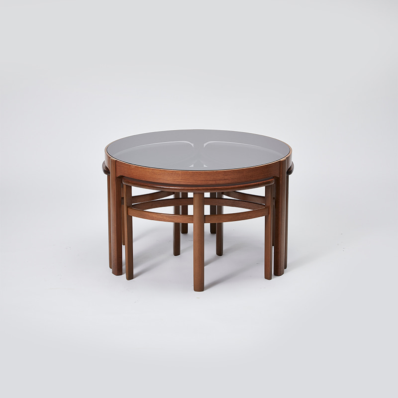 COFFEE AND NEST OF TABLES BY NATHAN