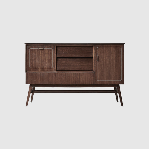 BEAUTILITY VINTAGE RETRO MID CENTURY 50 S 60 S WALNUT SIDEBOARD UNIT